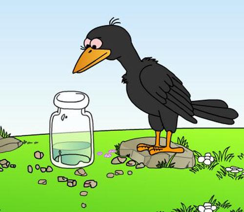 《乌鸦喝水》 讲的是小乌鸦发现了一个瓶子里面有水
