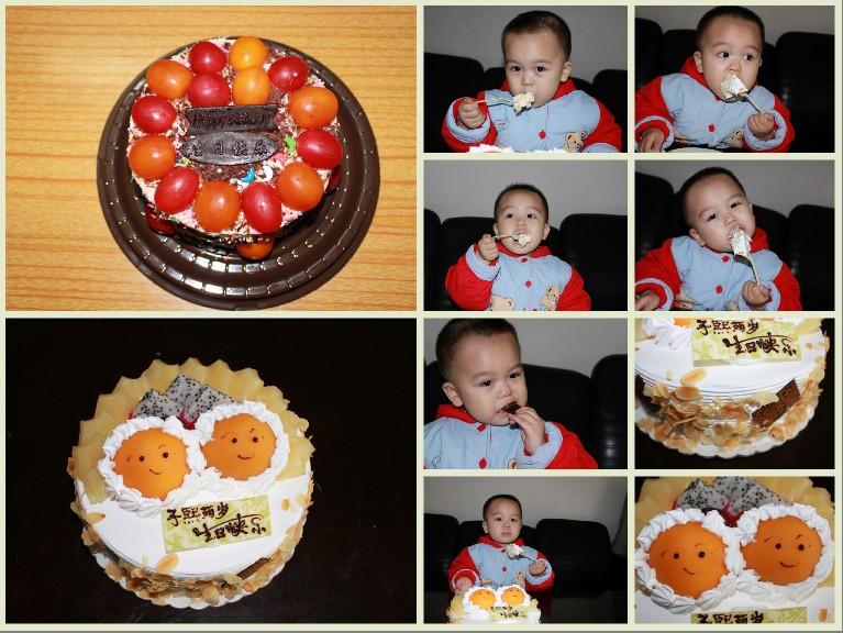 這是寶寶兩歲過生日的照片