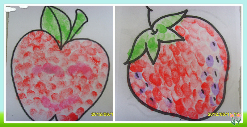 手指画 水果步骤