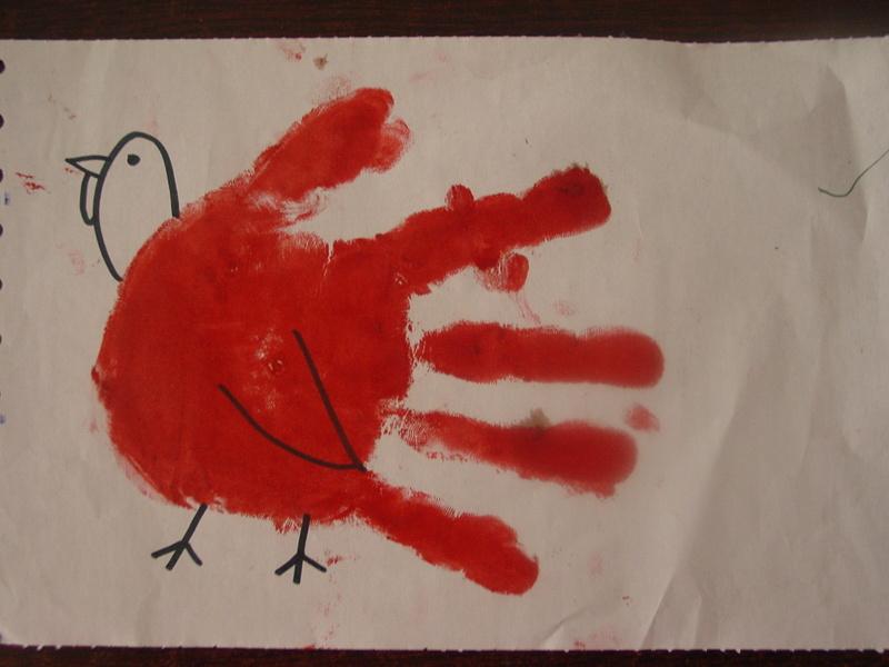 虽然宝贝没有见过真正地火鸡,可是天天听圣诞老人的故事,知道圣诞图片