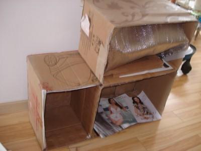 纸箱手工制作柜子图解