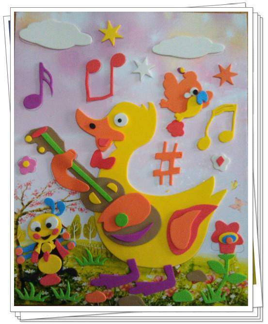 幼儿园娃娃家吉他手工制作图片
