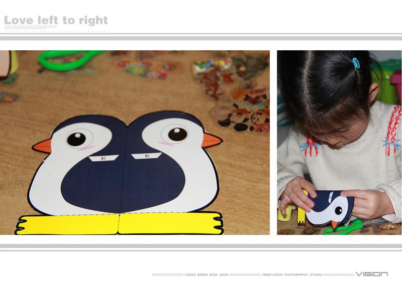 敬仪做手工------小猪和企鹅