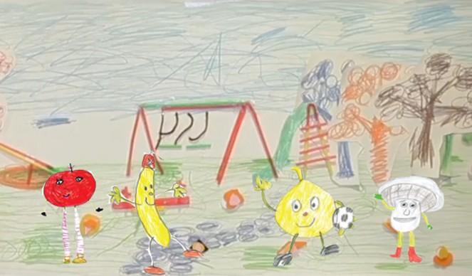 幼儿园画画梨子房子图片