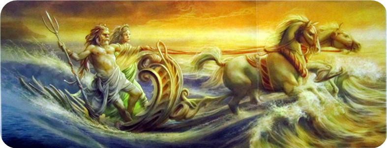 海神波塞冬和他的妻子安菲特里忒