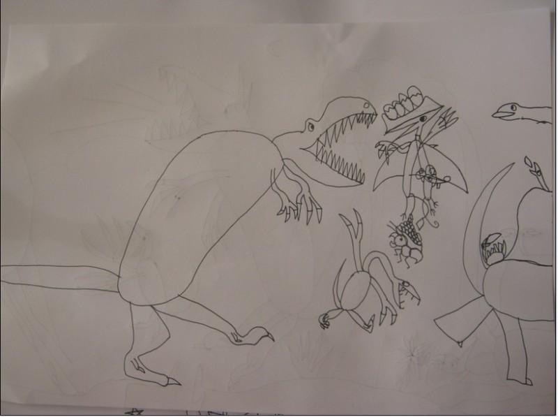 翼龙简笔画-TOM的涂鸦 小白ONE的日记