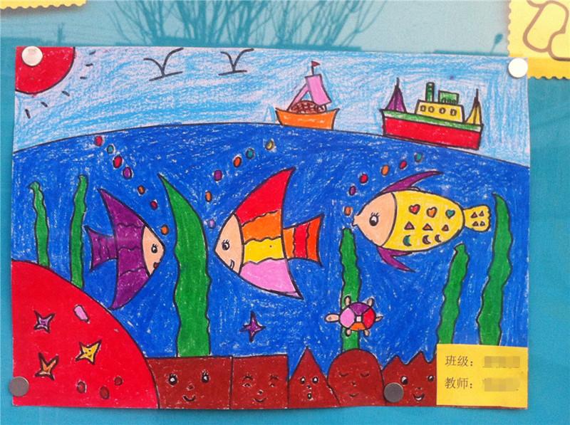 幼儿园老师的画作