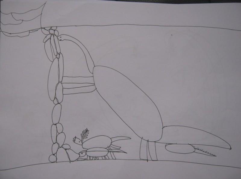绘画恐龙的素描画步骤图片大全