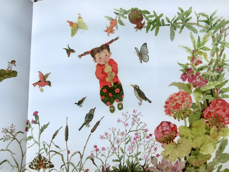 幼儿园亲子春游绘本制作图片