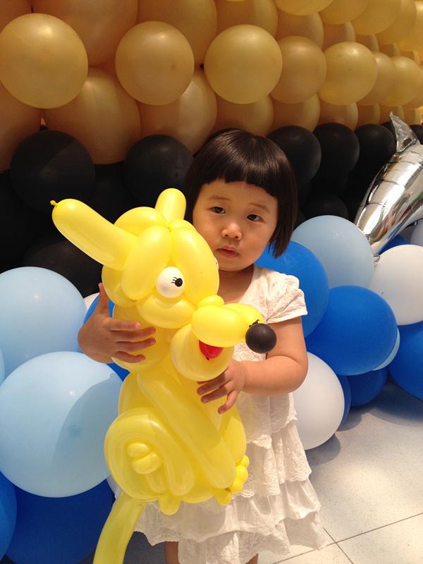 小妞游梦幻可爱的气球展