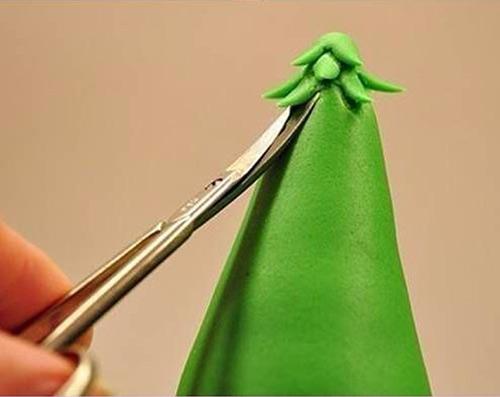 陶泥or橡皮泥圣诞树 不织布圣诞树 立体贺卡圣诞树 纸折圣诞树 浪漫