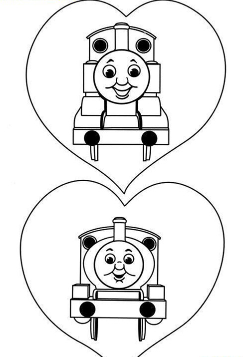 托马斯小火车简笔画