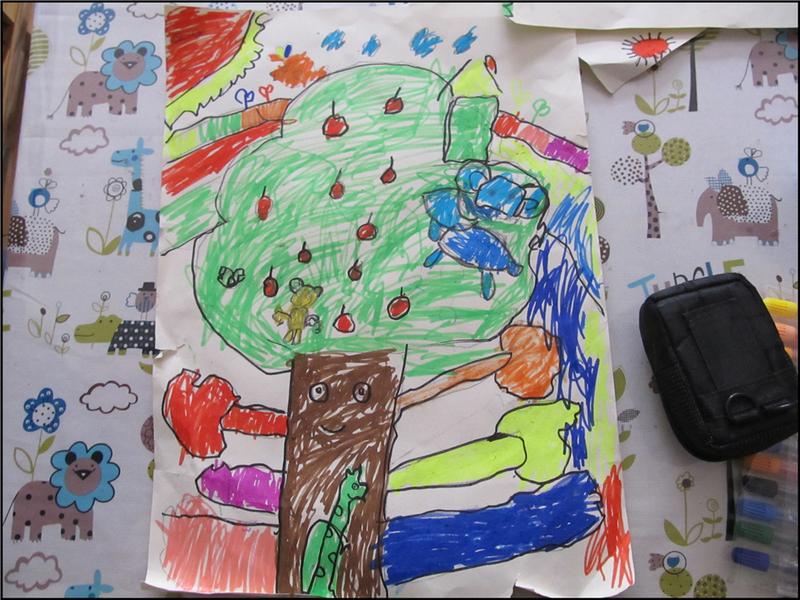 森林之歌简笔画_森林之歌儿童画