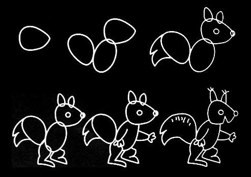 给大家提供一些简单的素描画,可以和孩子一起玩哦