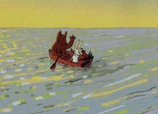 动物坐船简笔画