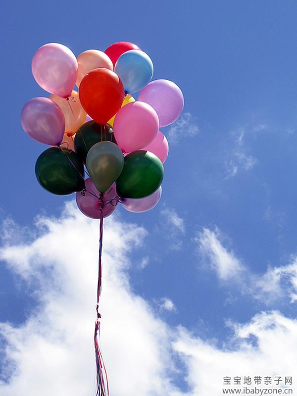 国庆气球手绘版图片