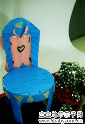 偷偷现一下自己给小朋友做的小椅子范例图片