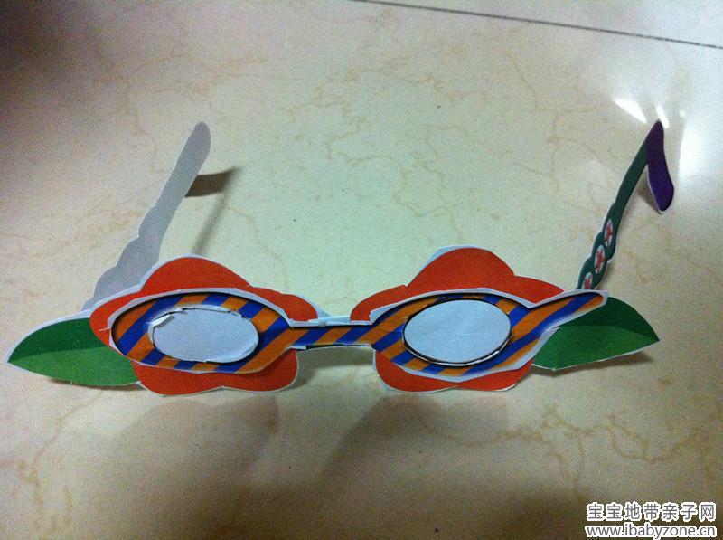 幼儿手工眼镜制作图片