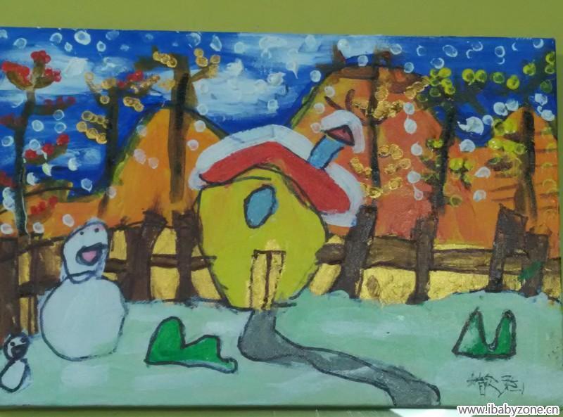 丙烯画——冬天来了