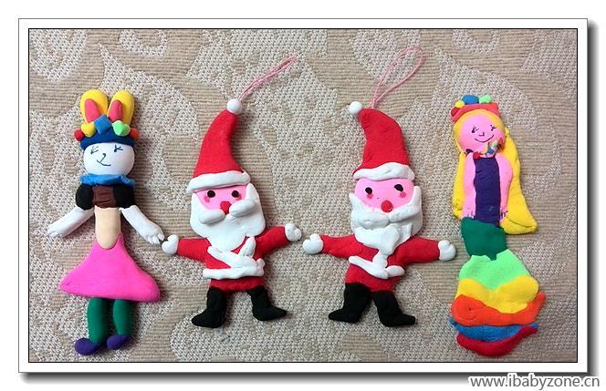橡皮泥手工——圣诞老人及其他