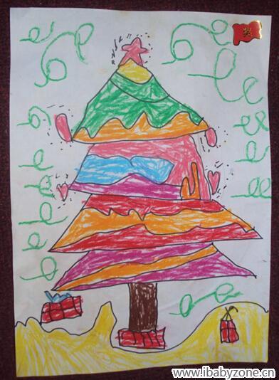 幼儿园作业——五彩缤纷的圣诞树