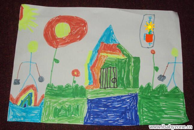 我会画画——彩虹房子 - 宝宝地带