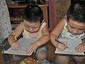 兄弟俩一起来学习